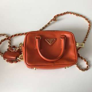 Orange Prada Mini Sling bag (Original)