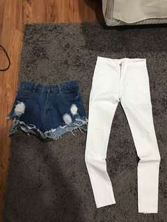 All for 60k ! Magnolia short denim , ripped jeans