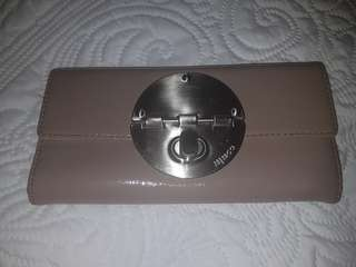 Mimco taupe turnlock wallet