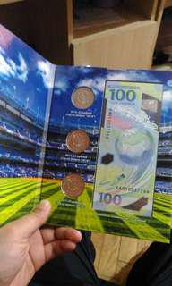 Set of world cup Russian note & coins