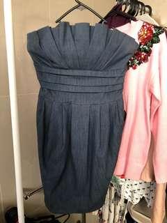 Amazing soft denim pocket dress 8
