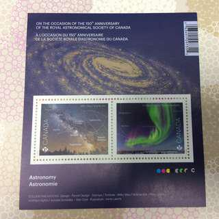 Astronomy Souvenir Sheet Stamps from Canada Post 加拿大郵政局郵票 小全張 紀念票 天文