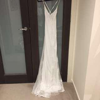White Lace Formal Dress
