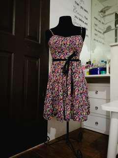 Bustier floral dress