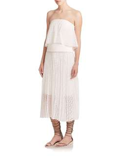 *Currently overseas until 2019* Tibi white strapless top