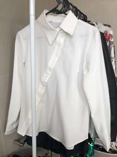 Off white twisted blouse