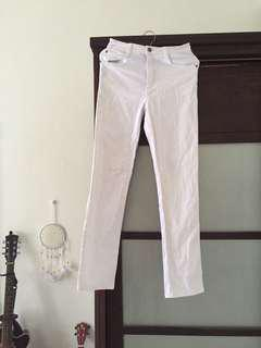White Pants Straight Cut