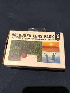 Coloured lens pack