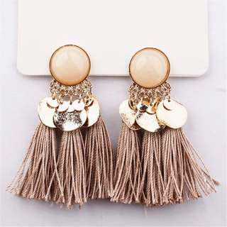 Ethnic Tassel Earrings Dangle Bohemian
