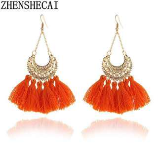 Hot Bohemia Long Tassel Earrings