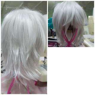 Cosplay Wig - White layered male wig