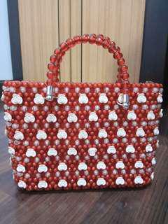 Original Handmade Handbag Tas warna Merah (NEGO)