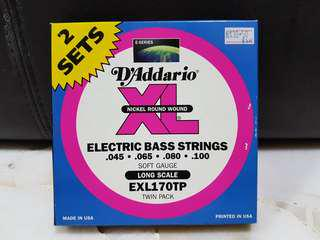 D'Addario EXL170 electric bass strings set