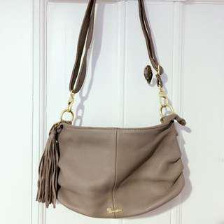 Etoupe Color Genuine Leather Cross body /shoulder Bag
