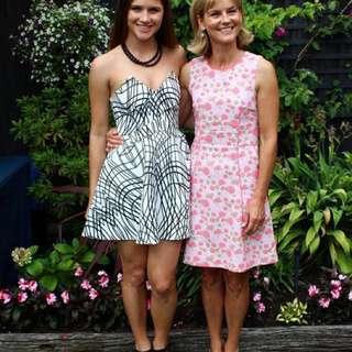 Keepsake the label bustier monochrome dress