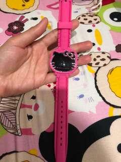 jam tangan led hello kitty