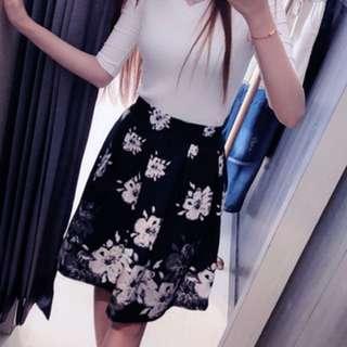 🚚 黑白花短裙