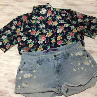 FLORAL BUTTONDOWN - very uso now
