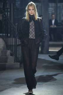 NEW CHANEL BLACK SILK PANTS RUNWAY RARE ITEM 褲