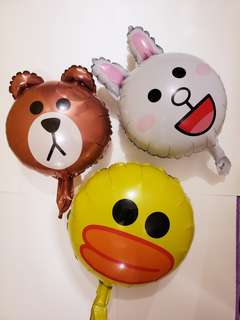 Line friends 鋁氣球 入氦氣後可升空 party佈置場地 生日會 百日宴