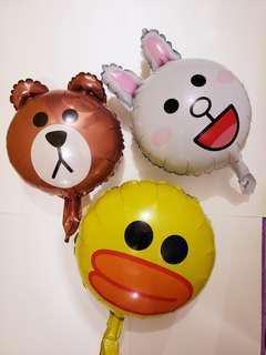 Line friends 鋁氣球  party佈置場地 生日會 百日宴