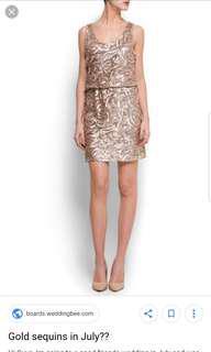 Mango Sequin Dress