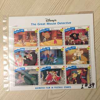 Disney stamp The Great  Mouse Detective 迪士尼郵票神探妙鼠