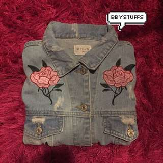 jacket jeans embroidered
