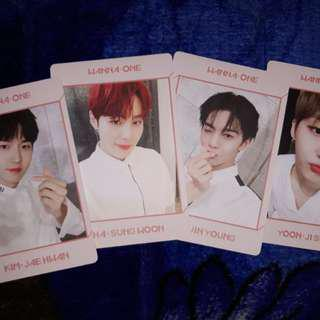 Wanna One Art Book version photocards