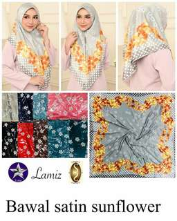 Bawal satin sunflower