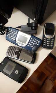 (NOT WORKING) Nokia 3310, 5510 (SOLD), O2 Xphone & Motorola Razer V3