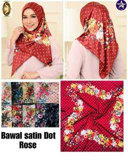 Bawal satin dot rose