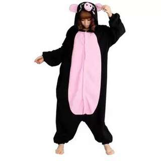Black Piggy Onesie Kigurumi Costume Pajama