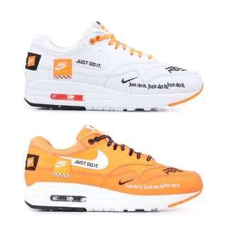 "Nike Air Max 1 Just Do It Pack ""White"" & ""Orange"""