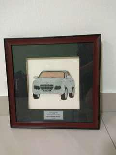 Paper Car Art Wall Frame