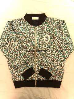 Leopard print (silk) varsity jacket