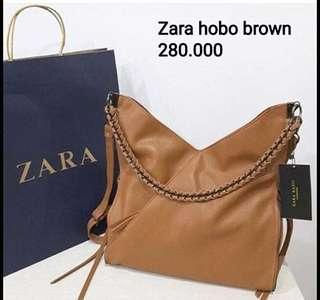 Zara hobo chain Brown