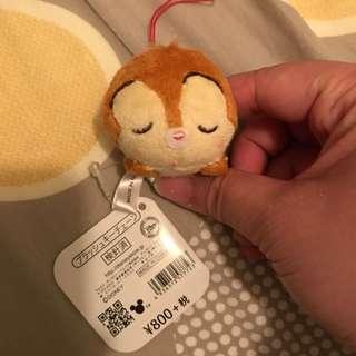 日本迪士尼店睡覺大鼻吊飾 Japan Disney Store Sleeping Dale Keychain
