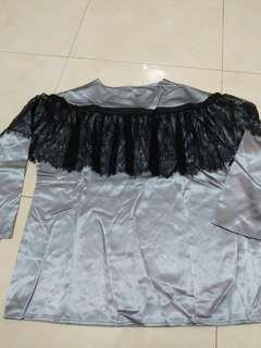 Grey silk blouse