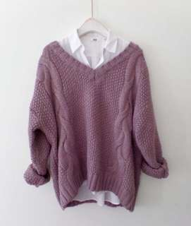 Purply Sweater