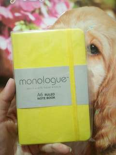 Monologue note book A6