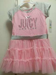 100% real & new 女童紗裙 juicy couture dress for girl