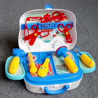 Children Surgeon Doctor Nurse Medical Play Set Suitcase