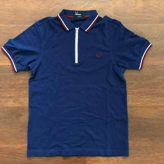 Authentic Fred Perry fit Zipper Polo Tee