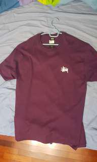 Authentic stussy tee (dark purple)