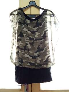 Female camouflage Top
