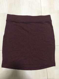 H&M Maroon Bandage Skirt