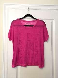 Aeropostale Bethany Mota 'Get Some Sleep' Pink Shirt