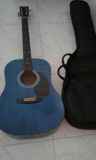 Good Condition Used TGM Acoustic Guitar With Padded Guitar Bag