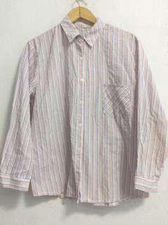 Stripped pink blouse